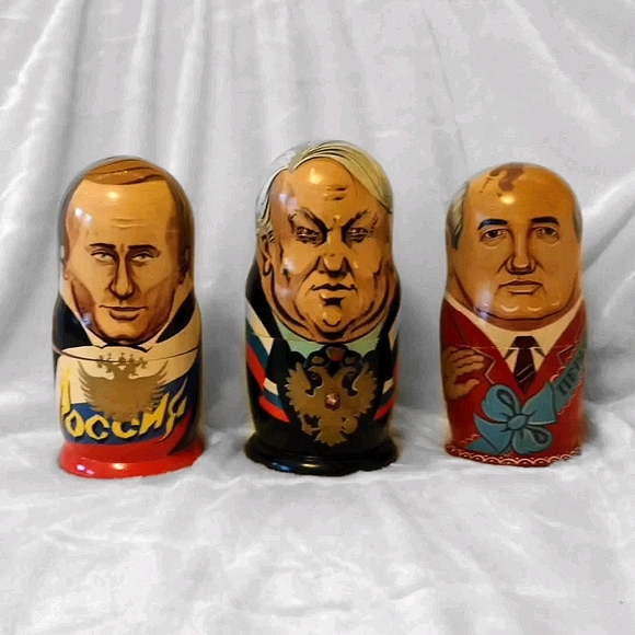 💥 SOLD 💥 Russian Political Leaders Nesting Dolls